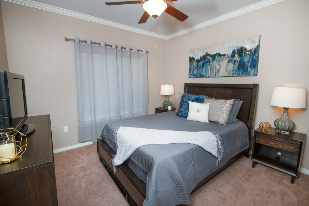 Beautiful bedroom at Estancia at Ridgeview Ranch in Plano, Texas