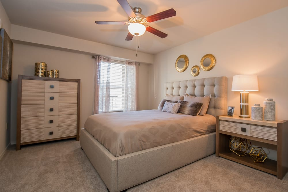 Bedroom at Cottages at Tallgrass Point Apartments in Owasso, Oklahoma