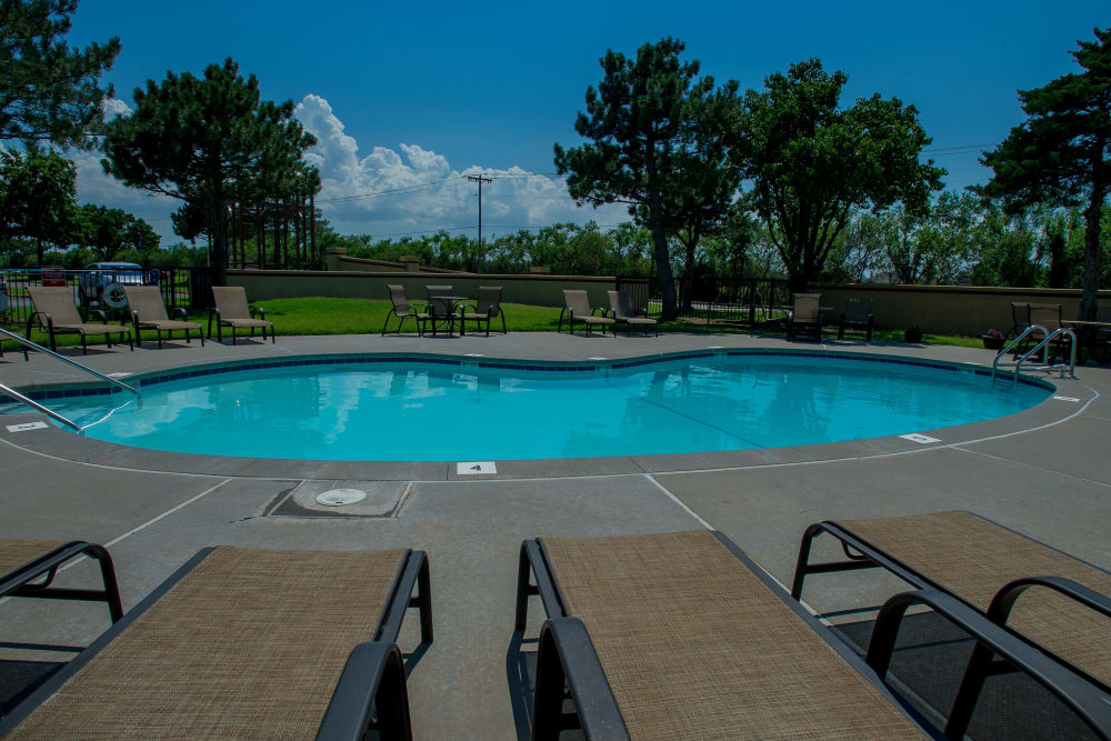 Swimming pool at Council Place Apartments in Oklahoma City, Oklahoma