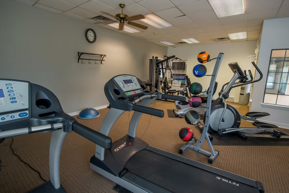 Fitness center at Council Place Apartments in Oklahoma City, Oklahoma