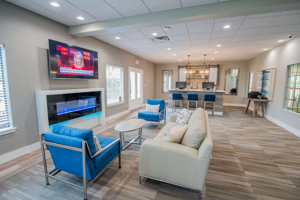 Modern clubhouse at Council Place Apartments in Oklahoma City, Oklahoma