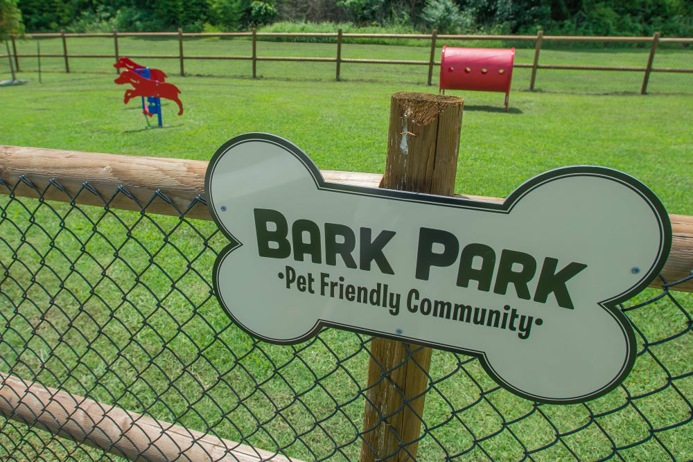 Bark park at Country Hollow in Tulsa, Oklahoma