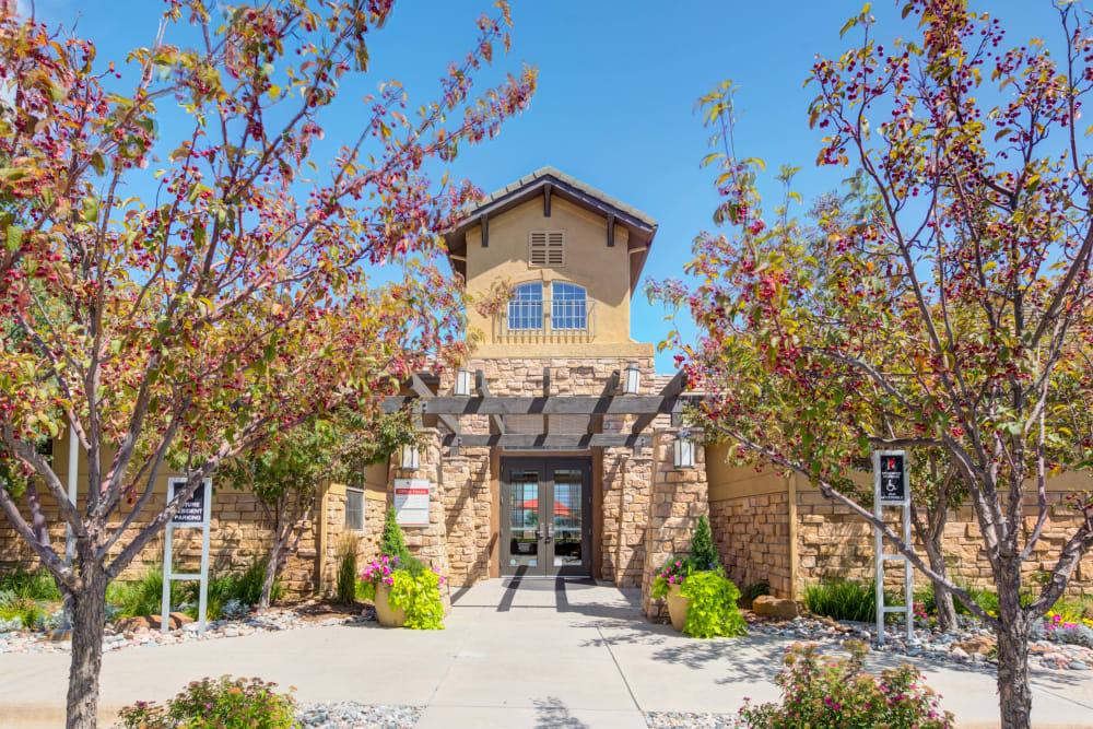 Exterior of the Rental Office Resort at University Park in Colorado Springs, Colorado