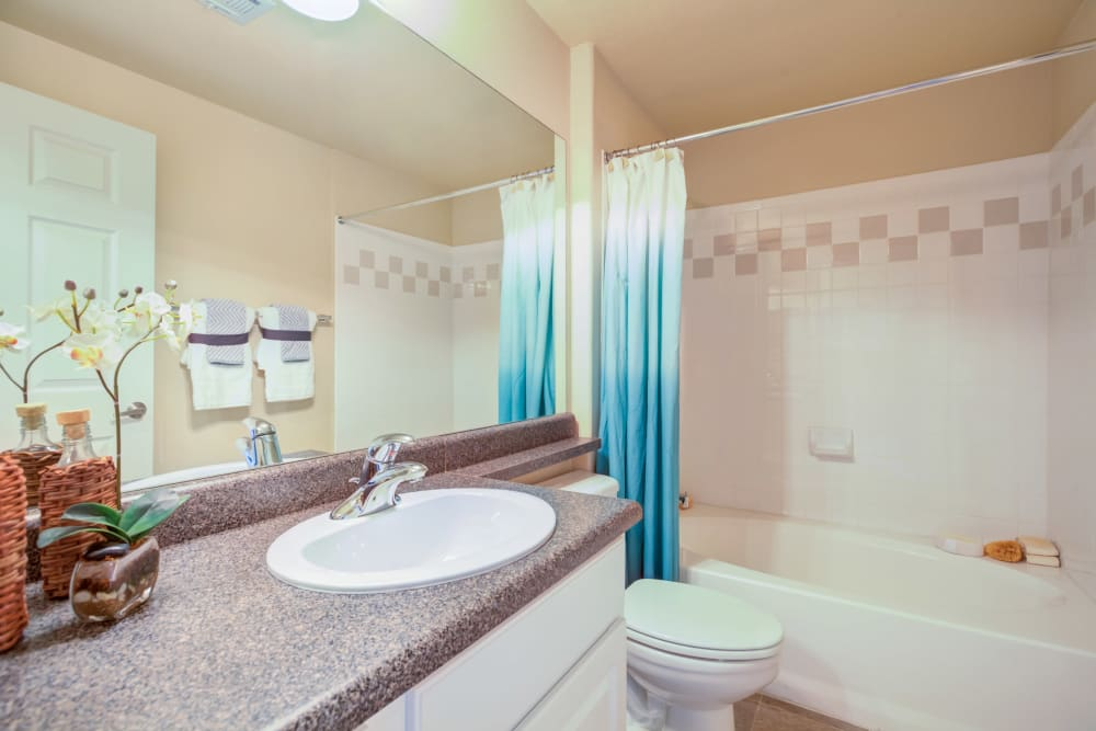 Bathroom at Resort at University Park in Colorado Springs, Colorado