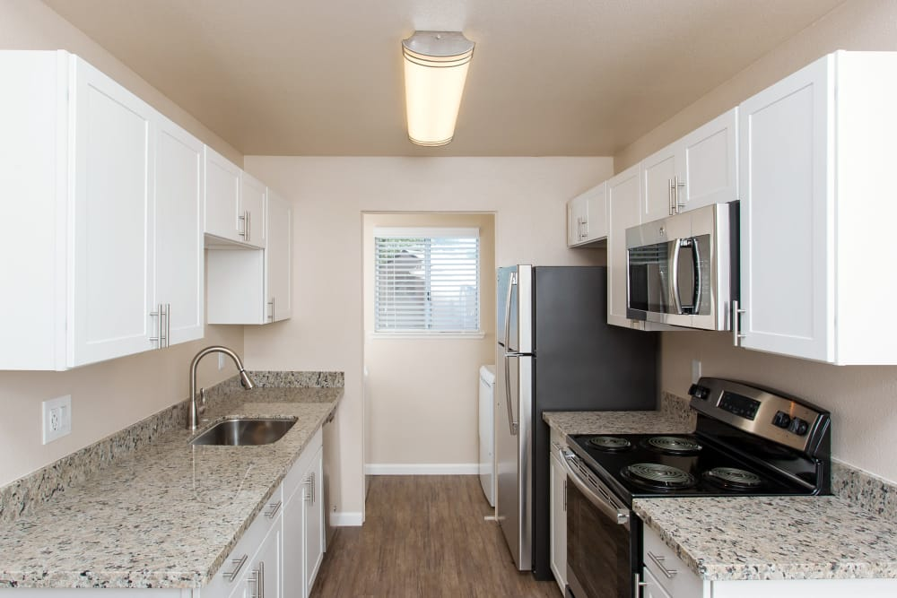 Heather Ridge offers a natrually well-lit kitchen in Orangevale, California