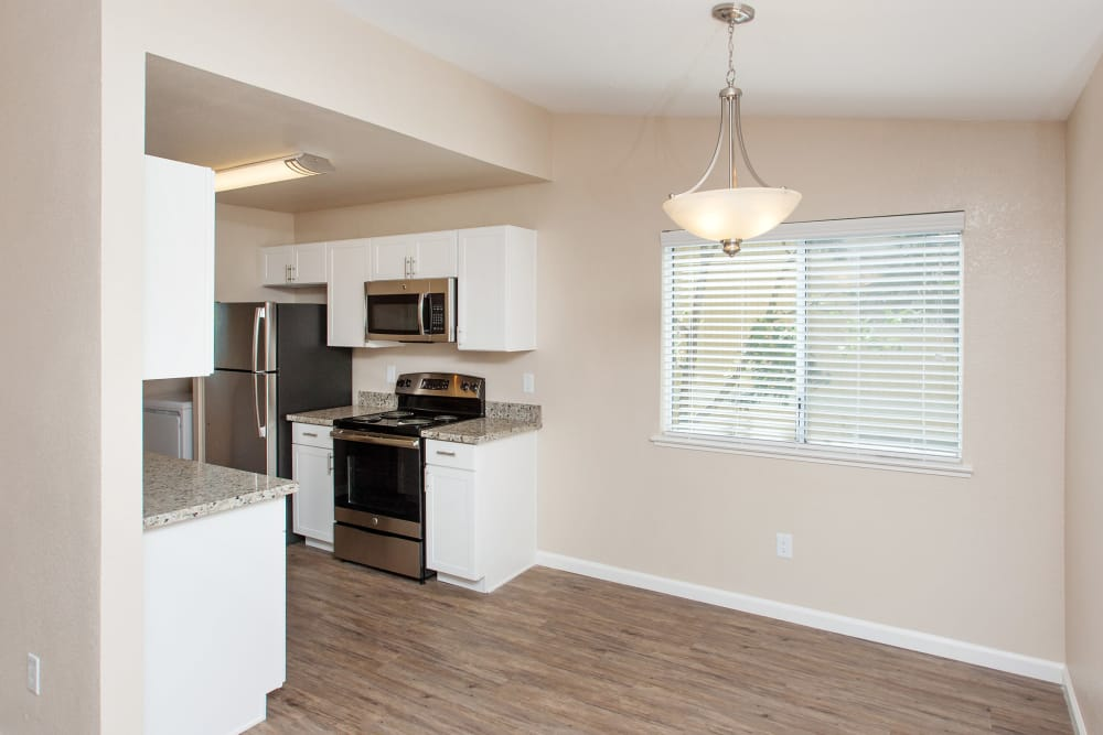 Enjoy our spacious apartments kitchen at Heather Ridge in Orangevale, California