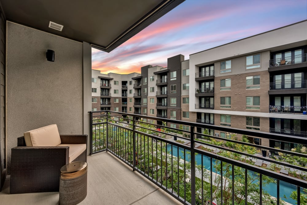 Beautiful balcony at Aura 5515 in Dallas, Texas