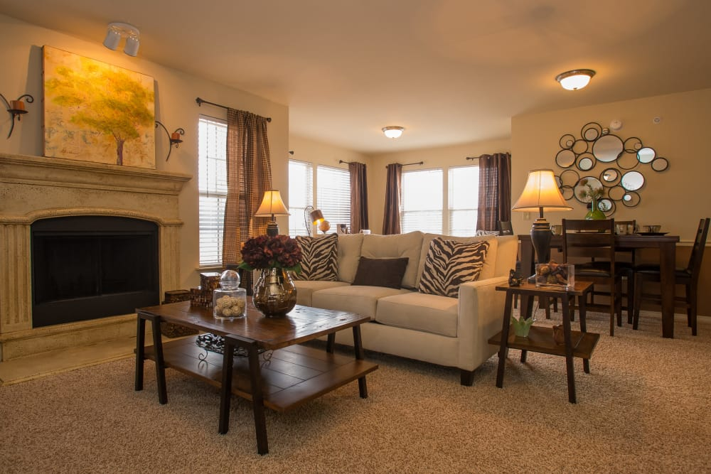 Living room at Park at Tuscany in Oklahoma City, Oklahoma