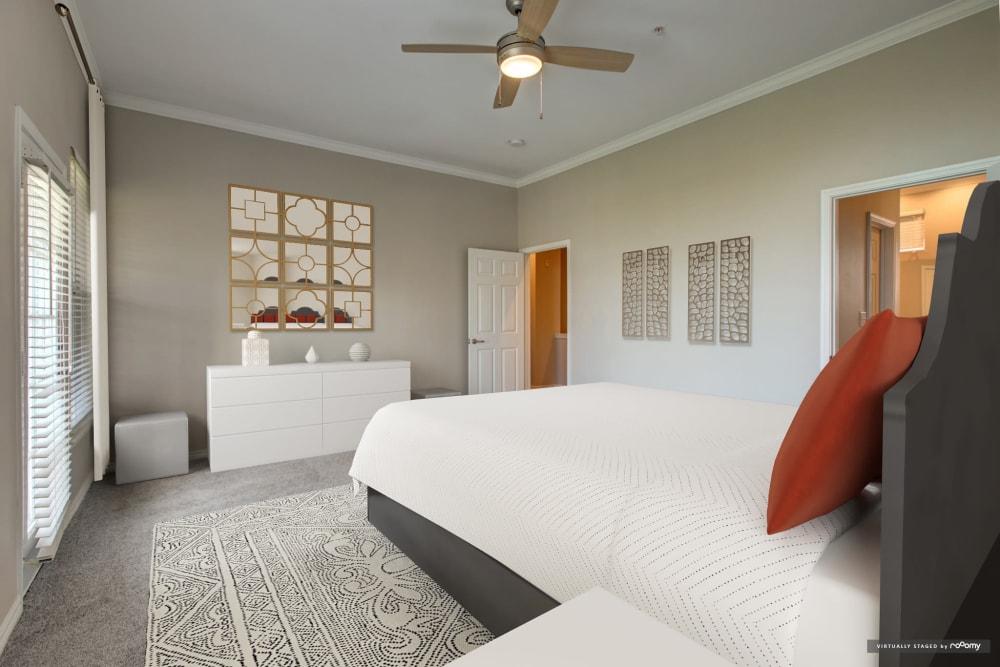 Cozy bedroom at Meritage at Steiner Ranch in Austin, Texas