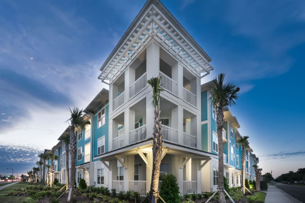 Exterior of BluWater Apartments in Jacksonville Beach, Florida