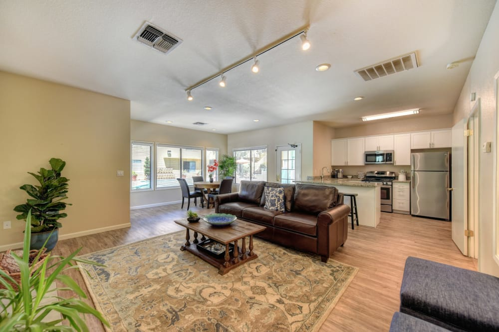 Our spacious apartments at Antelope Vista in Antelope, California showcase a living room