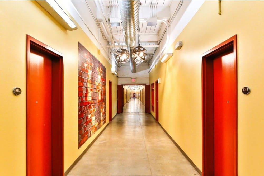 Hallway at Highland Mill Lofts in Charlotte, North Carolina