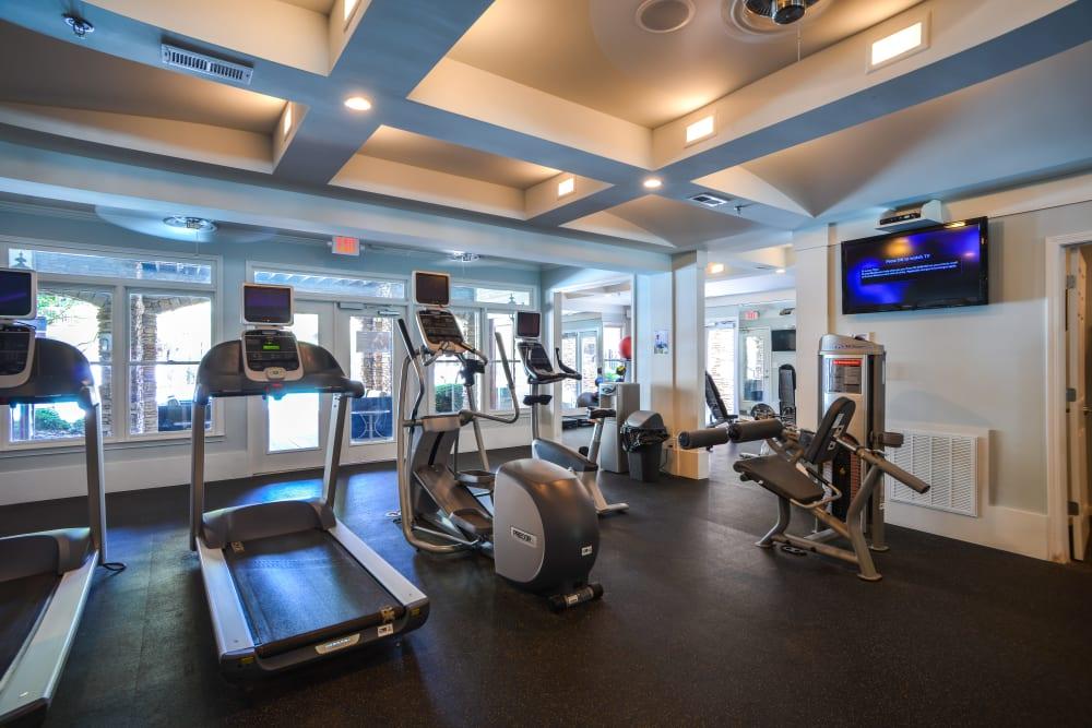 Highland Square offers a fitness center in Atlanta, Georgia