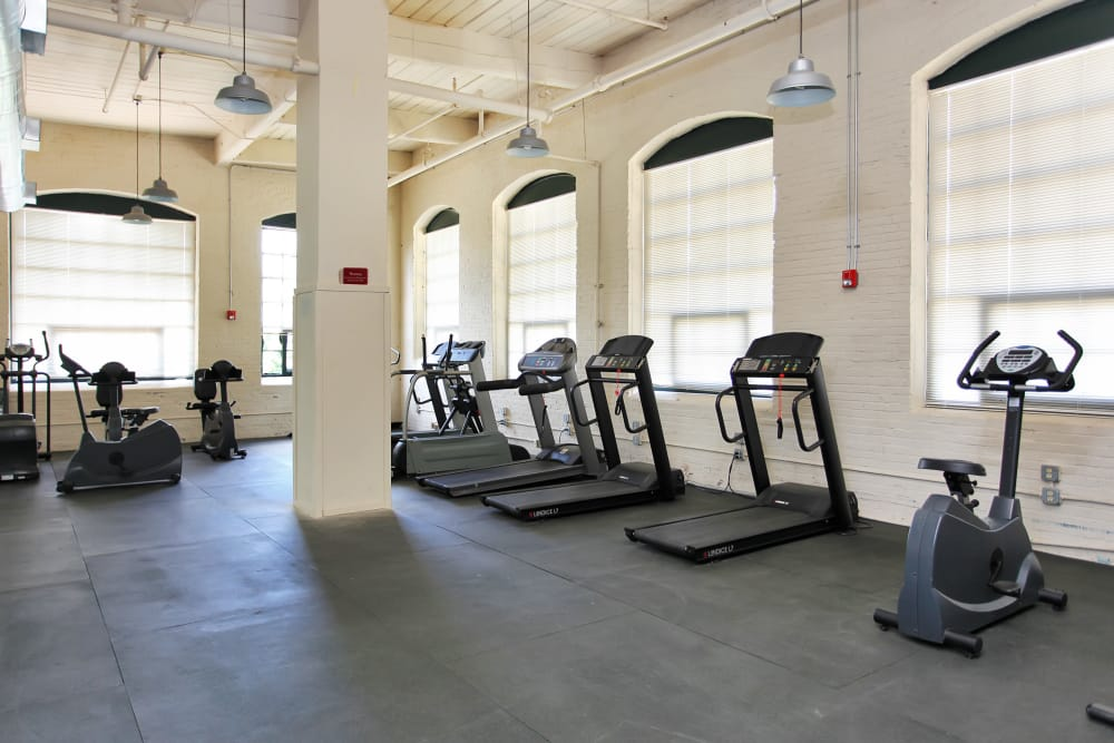 Lofts at Riverwalk offers a modern fitness center in Columbus, Georgia