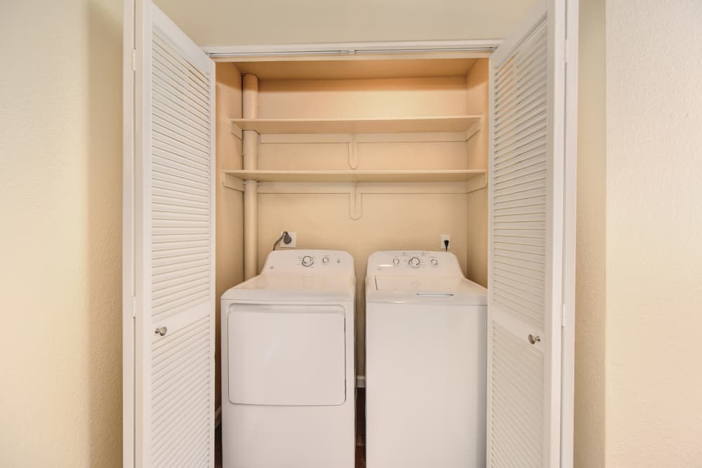 Folsom Gateway apartments in Orangevale, California offers in-unit washer and dryers.
