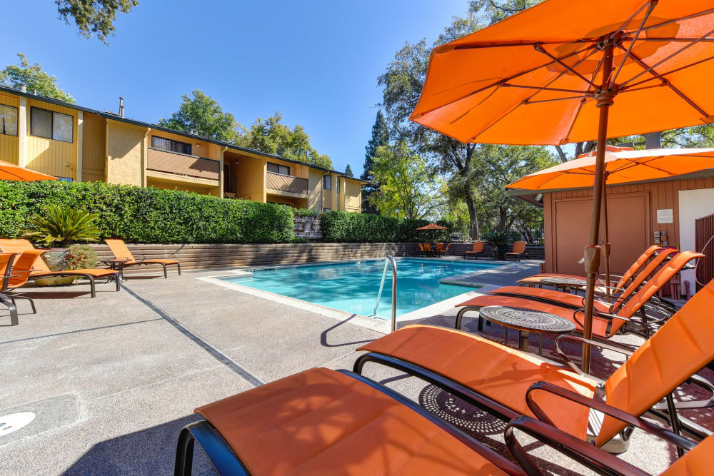 Our luxury apartments at Folsom Gateway in Orangevale, California showcase a swimming pool
