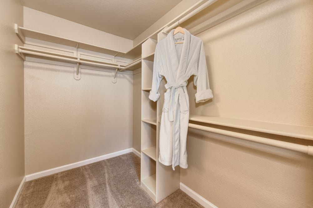 Spacious apartment with walk-in closets at Folsom Gateway in Orangevale, California
