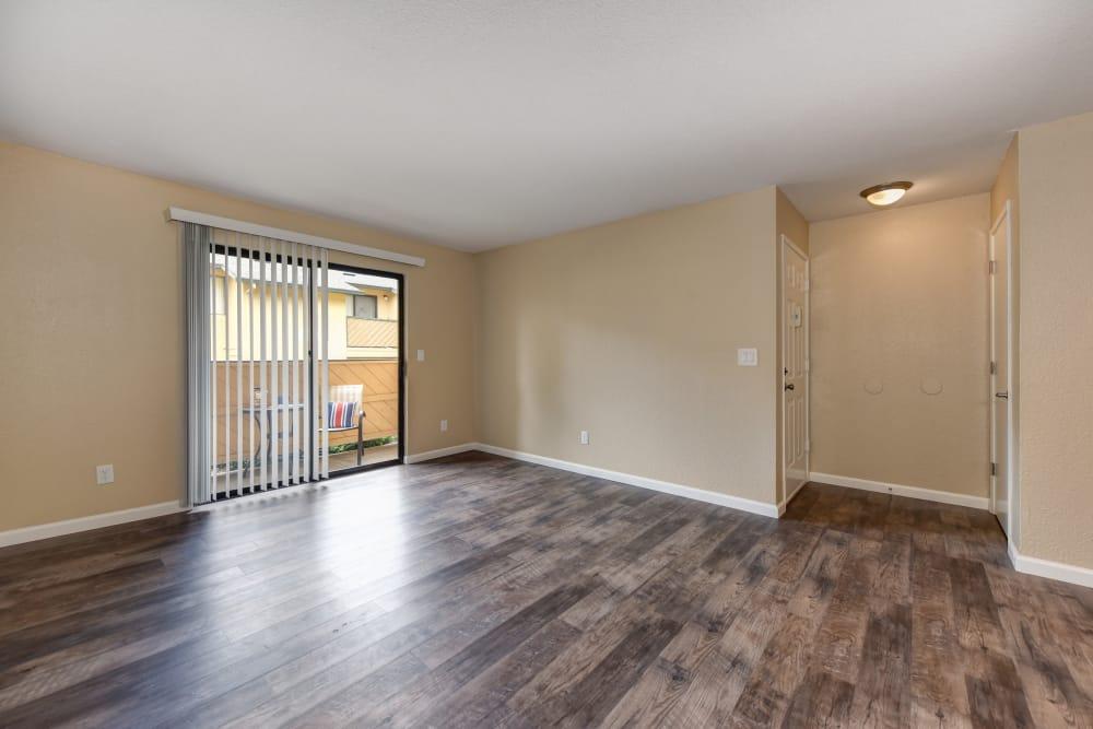 Spacious interiors with hardwood flooring at Folsom Gateway in Orangevale, California