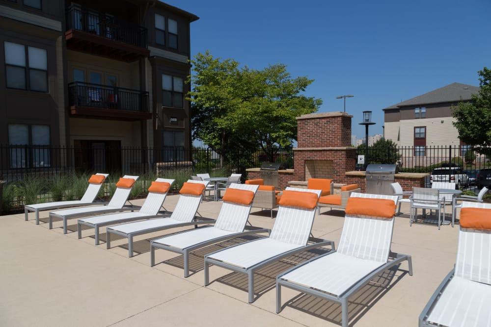 Pool chairs at M Street in Atlanta, Georgia
