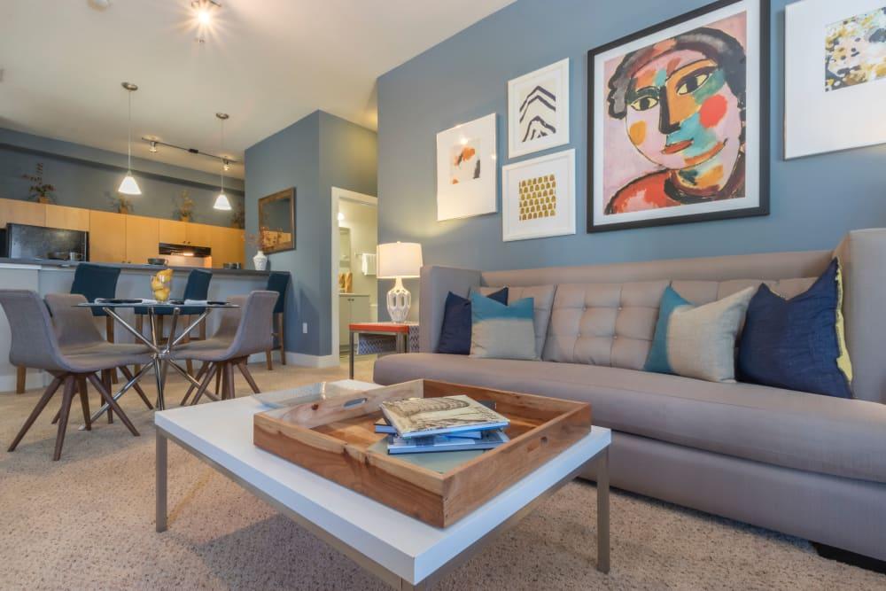 Spacious living room at M Street in Atlanta, Georgia