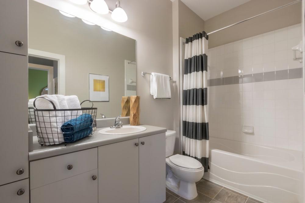 Modern bathroom at M Street in Atlanta, Georgia