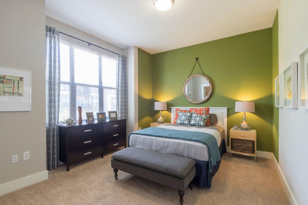 Modern bedroom at M Street in Atlanta, Georgia
