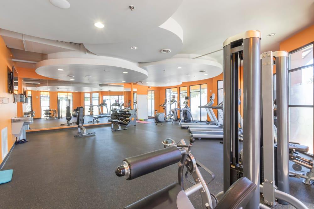 Modern fitness center at M Street in Atlanta, Georgia