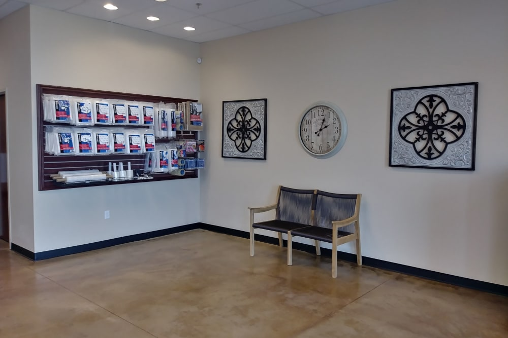 Office and merchandise at Towne Storage in Las Vegas, NV