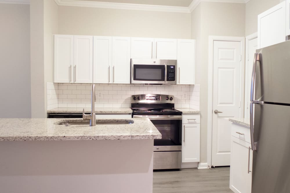 Kitchen at 1001 Ross in Dallas, Texas