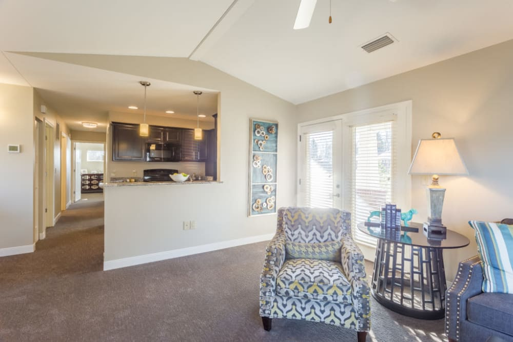 Villa living room and kitchen at Forest Springs Health Campus in Louisville, Kentucky