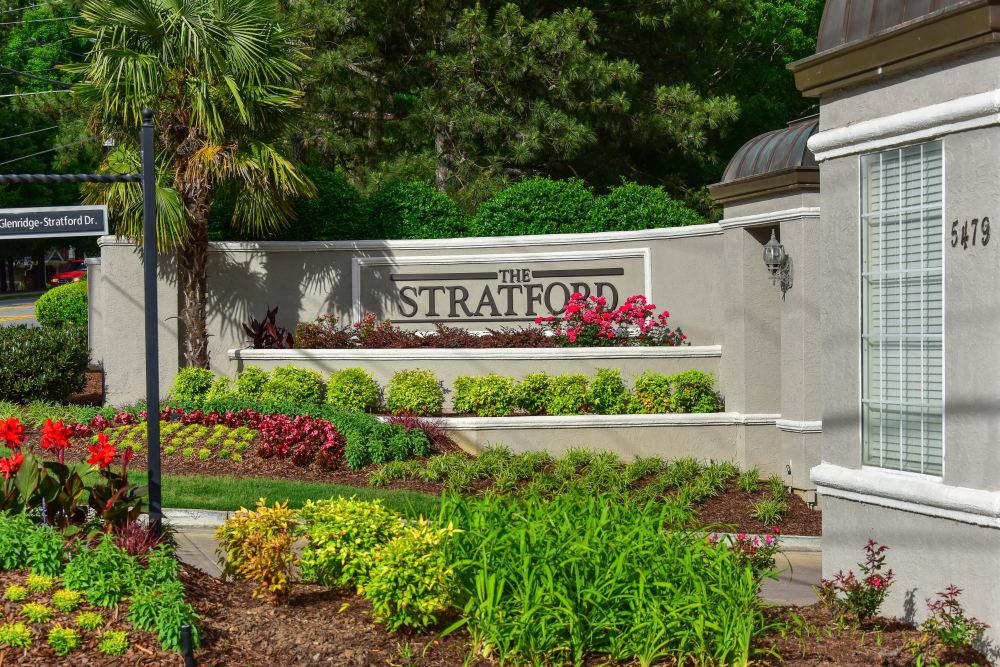 Entryway at The Stratford Apartments in Atlanta, Georgia