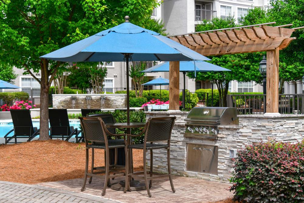 Pool area at The Stratford Apartments in Atlanta, Georgia