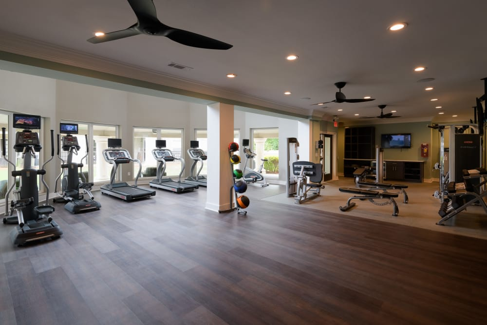 Fitness center at The Stratford Apartments in Atlanta, Georgia