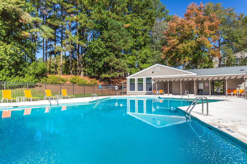 Swimming pool at Villages of Lake Boone Trail in Raleigh, North Carolina
