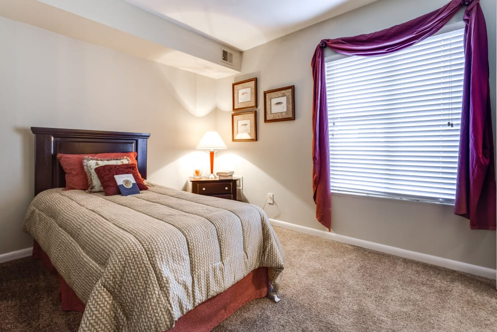 Bedroom at Villages of Lake Boone Trail in Raleigh, North Carolina