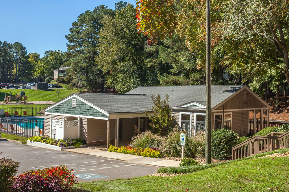 Our lovely apartments at Villages of Lake Boone Trail in Raleigh, North Carolina