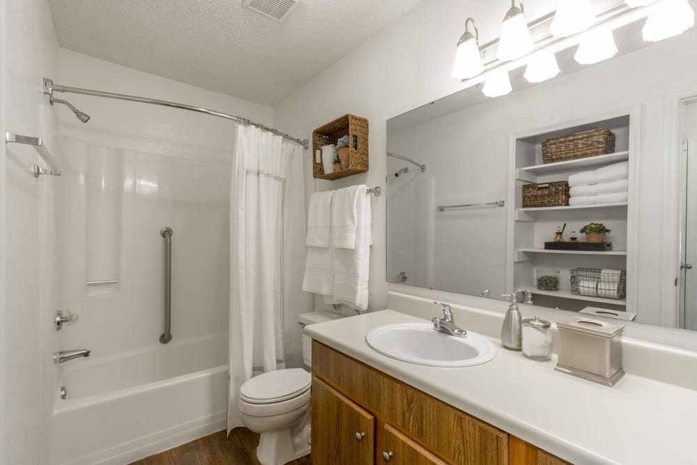 Spacious bathroom at Copper Mill Apartments in Richmond, Virginia