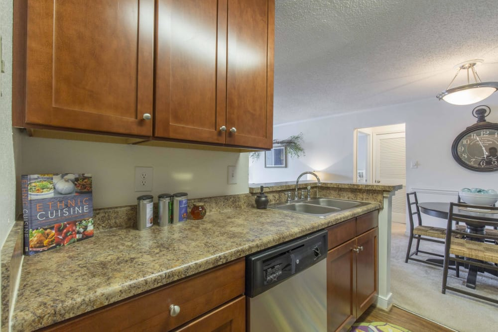 Enjoy a modern kitchen at Copper Mill Apartments in Richmond, Virginia