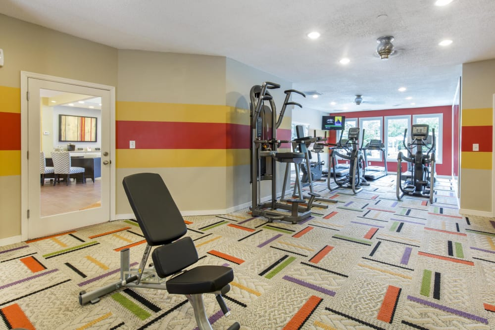 Stay healthy in the Copper Mill Apartments fitness center in Richmond, Virginia