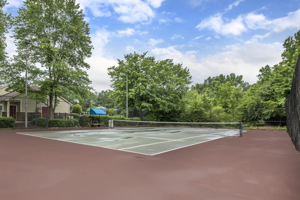Tennis court at Copper Mill Apartments in Richmond, Virginia