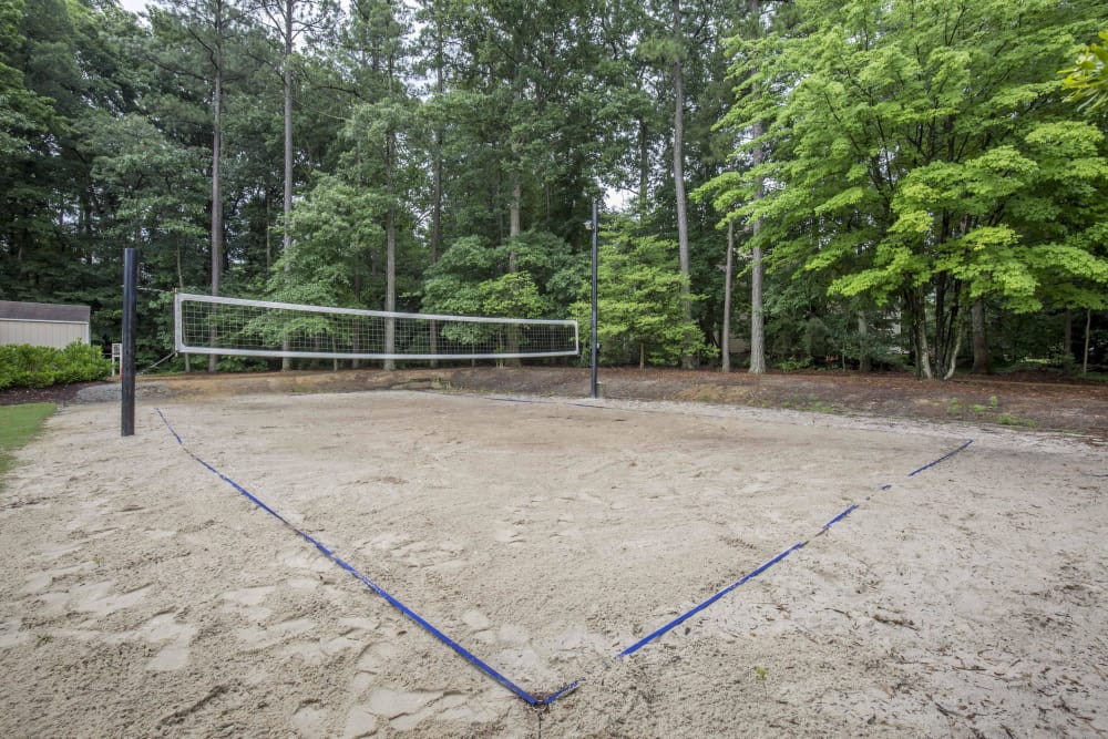 Copper Mill Apartments offers a volleyball court in Richmond, Virginia