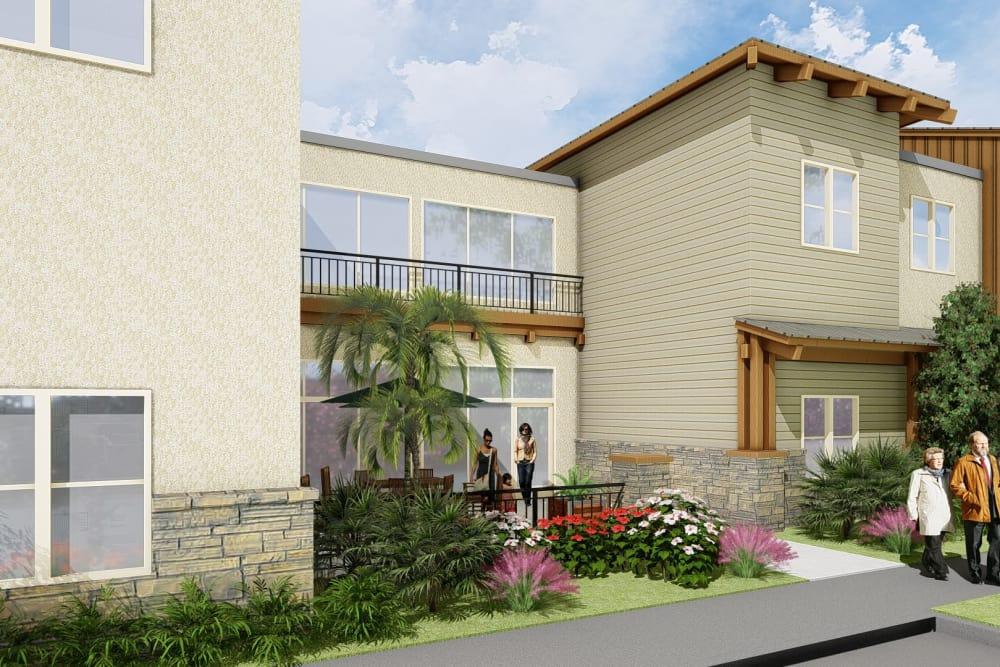 Front view of senior living at Westmont of Encinitas in Encinitas, California