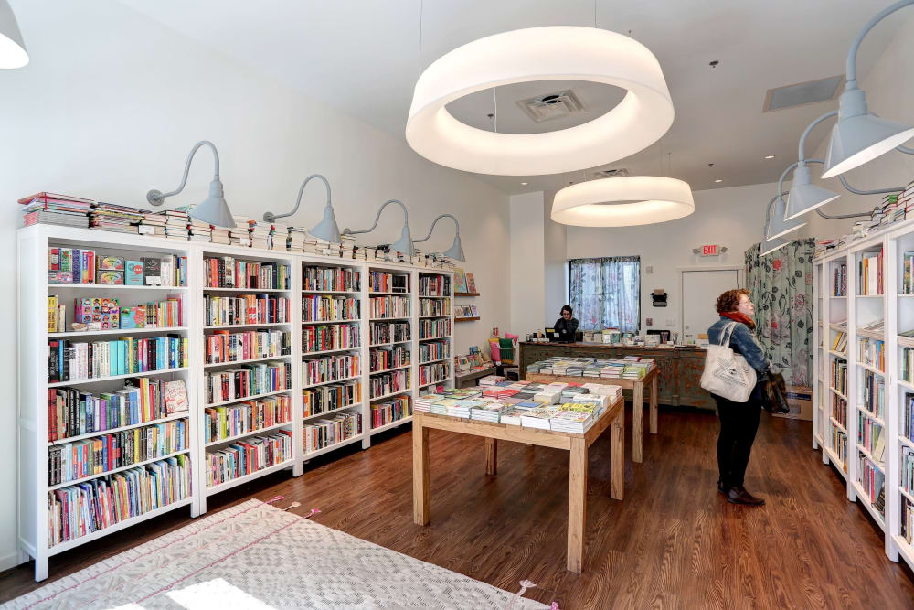 Community library at The Eastland in Nashville, Tennessee
