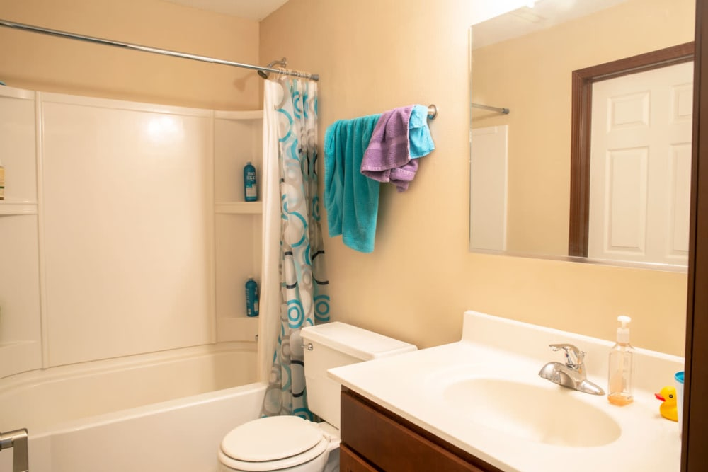 Apartment bathroom at South Maple in Ames, Iowa