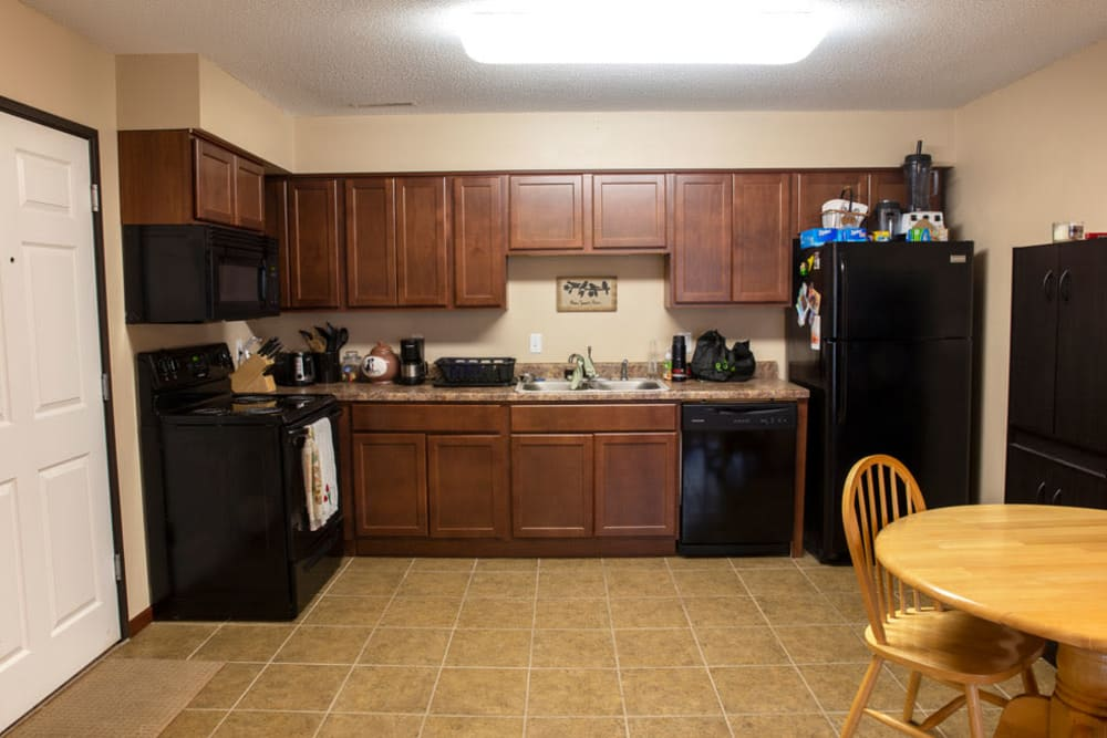 Apartment kitchen at South Maple in Ames, Iowa