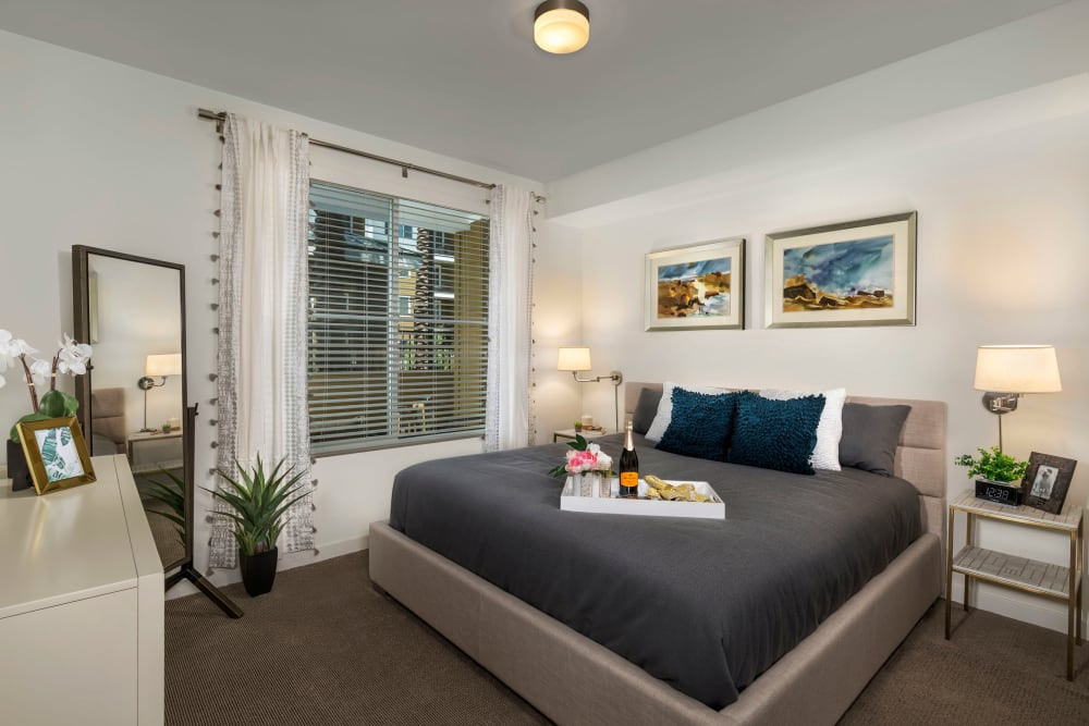 Spacious bedroom at Clearwater at Riverpark in Oxnard, California