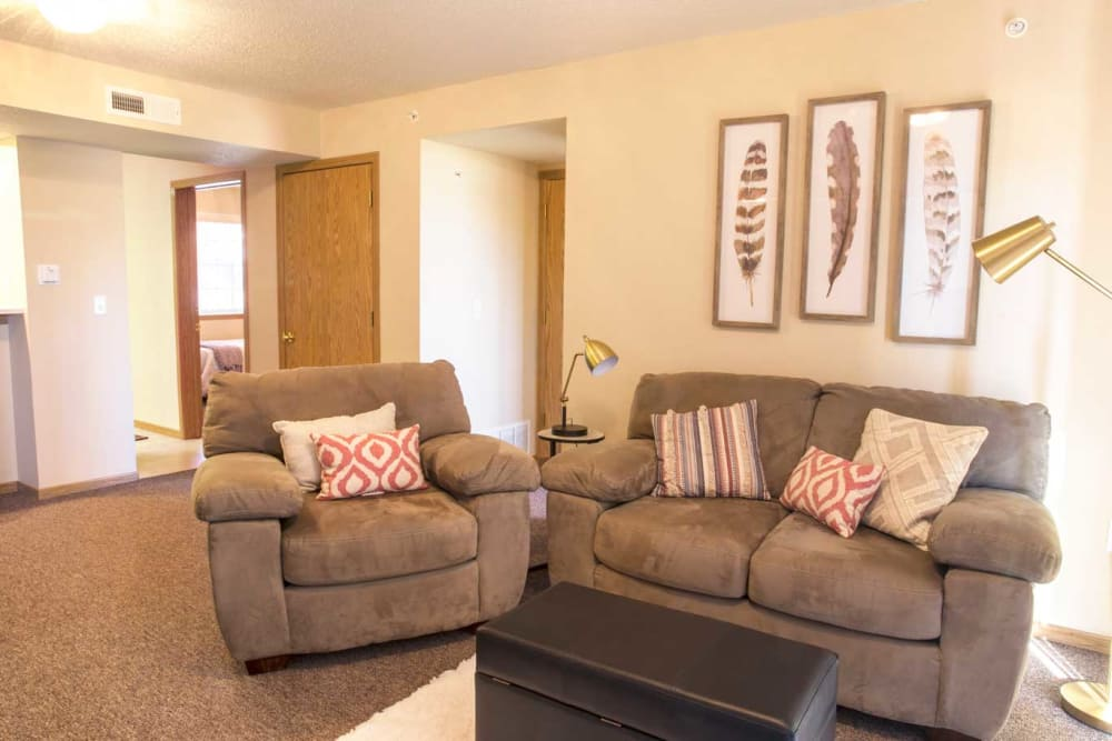 Our spacious apartments in Cedar Rapids, Iowa showcase a living room