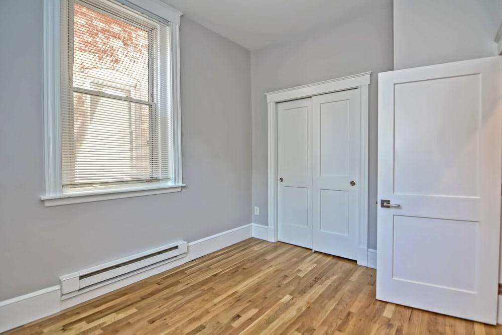 Luxury apartments with hardwood floors at Boylston Crossing Apartment Homes in Boston, Massachusetts