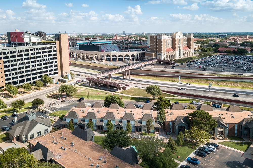View from Raiders Walk apartments in Lubbock