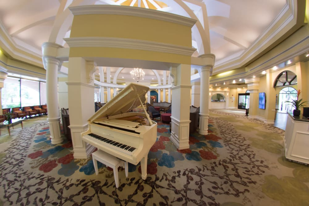 Music room at Pacifica Senior Living Forest Trace in Lauderhill, Florida